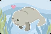 Hải Cẩu Đang Bơi Mẫu Nền Thư