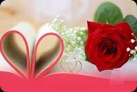 Kỷ Niệm Ngày Cưới Hoa Hồng, Trang Sách & Nhẫn Cưới Mẫu Nền Thư
