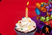 Ảnh Động Bánh Cupcake Sinh Nhật Mẫu Nền Thư