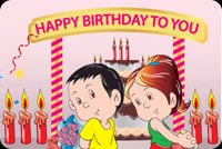 Happy Birthday To You Mẫu Nền Thư