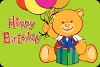 Gấu Teddy Chúc Bạn Sinh Nhật Vui Vẻ Mẫu Nền Thư