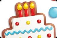 Kẹo & Bánh Sinh Nhật Tặng Bạn Mẫu Nền Thư