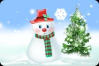 Chú Người Tuyết Và Cây Thông Giáng Sinh Mẫu Nền Thư