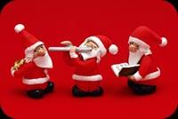 3 Ông Già Noel Chơi Nhạc Mẫu Nền Thư