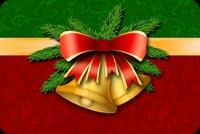Cặp Chuông Giáng Sinh Mẫu Nền Thư