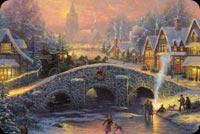 Cảnh Đẹp Giáng Sinh Mẫu Nền Thư