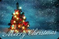 Cây Thông Noel Mery Christmas Mẫu Nền Thư