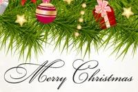 Thiệp Chúc Giáng Sinh Mẫu Nền Thư