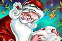 Ông Già Noel Santa Claus Mẫu Nền Thư