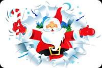 Santa Chúc Mừng Giáng Sinh Mẫu Nền Thư