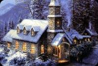 Cảnh Đẹp Noel Mùa Đông Mẫu Nền Thư