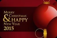 Chúc Mừng Giáng Sinh & Năm Mới 2015 Mẫu Nền Thư