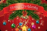 Một Giáng Sinh Yên Lành & Hạnh Phúc Mẫu Nền Thư