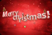 Chữ Nổi Merry Christmas Mẫu Nền Thư