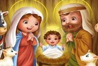 Chúc Mừng Chúa Giáng Sinh Mẫu Nền Thư