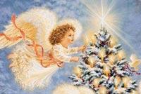 Thiên Thần Noel Mẫu Nền Thư