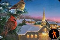 Một Mùa Giáng Sinh An Lành Mẫu Nền Thư