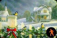 Giáng Sinh Chào Đến Mọi Nhà Mẫu Nền Thư