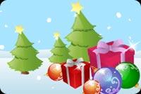 Những Gói Quà Bên Cây Giáng Sinh Mẫu Nền Thư