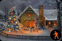 Chúc Bạn Một Giáng Sinh Thật Ấm Áp Mẫu Nền Thư