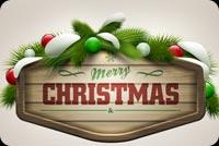 Merry Christmas Mẫu Nền Thư
