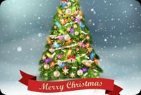 Cây Thông Noel Mẫu Nền Thư
