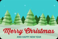 Merry Christmas & Happy New Year Mẫu Nền Thư