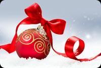 Nơ Đỏ Giáng Sinh Vui Vẻ Mẫu Nền Thư