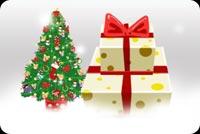 Quà Giáng Sinh Và Cây Thông Noel Mẫu Nền Thư