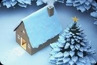 Căn Nhà Tuyết Mùa Đông Mẫu Nền Thư