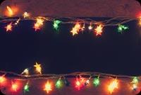 Giăng Đèn Giáng Sinh Mẫu Nền Thư