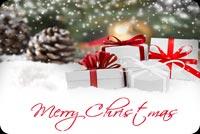 Quà Tặng Giáng Sinh Mẫu Nền Thư