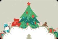 Quà Noel Mẫu Nền Thư