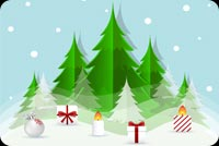 Cây Thông Nến Và Quà Noel Mẫu Nền Thư