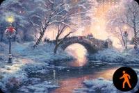 Tuyết Phủ Trên Sông  Mẫu Nền Thư