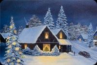 Ngôi Nhà Giáng Sinh Mẫu Nền Thư