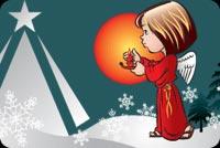 Thiên Thần & Ông Già Noel Mẫu Nền Thư