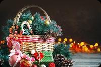 Giỏ Quà Giáng Sinh Mẫu Nền Thư