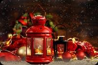 Đèn Trưng Giáng Sinh Mẫu Nền Thư