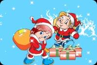 Giáng Sinh Ta Đi Tặng Quà Mẫu Nền Thư