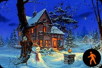 Ấm Áp Mùa Giáng Sinh Mẫu Nền Thư