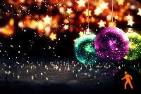 Merry Christmas & Happy New Year Mẫu Nền Thư