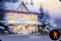 Giáng Sinh Tuyết Rơi Đầy Sân Mẫu Nền Thư