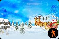 Merry Christmas Santa Mẫu Nền Thư
