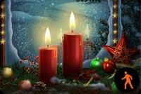 Đèn Cầy Giáng Sinh Mẫu Nền Thư