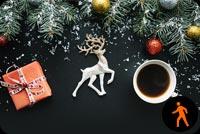 Ly Cà Phê Nóng Buổi Sáng Giáng Sinh Mẫu Nền Thư