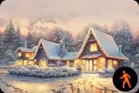 Nhà Nghỉ Giáng Sinh Mẫu Nền Thư