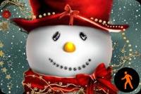 Người Tuyết Dễ Thương - Hiệu Ứng Snow Mẫu Nền Thư