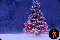 Ảnh Động Tuyết Phủ Cây Noel Mẫu Nền Thư