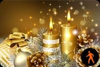 Ảnh Động Noel Vàng Mẫu Nền Thư